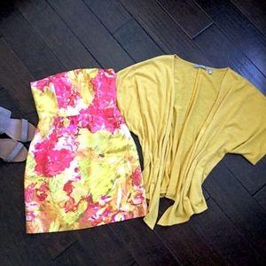 Banana Republic Strapless Floral Mini Dress